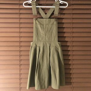 Dresses & Skirts - Olive green overall dress!
